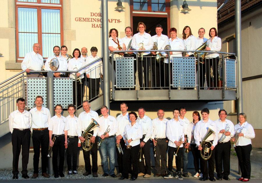 Der Posaunenchor Ettlenschieß im Jubiläumsjahr 2014